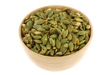 Free A Bowl Of Roasted And Salted Pumpkin Seeds Stock Photography - 24831852