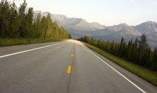 Free Traveling Hwy 2 Alaska Mountain Country Scene Stock Image - 24831871