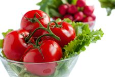 Free Tomatoes In A Salad Bowl Royalty Free Stock Photo - 24833145