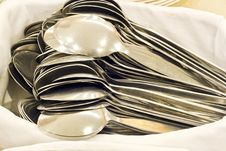 Free Pile Of Spoons Royalty Free Stock Image - 24834266