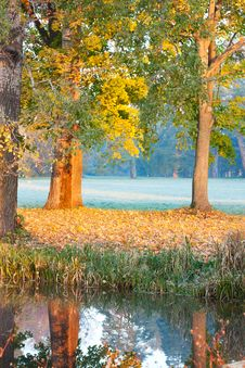 Free Autumn Has Come. Morning On The Lake Stock Photography - 24835182