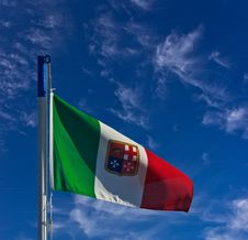 Free Italian Navy Flag Royalty Free Stock Images - 24835369