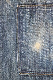 Free Blue Jeans Pocket Stock Photos - 24835543