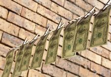 Free Hanging Dollars Royalty Free Stock Photos - 24835618