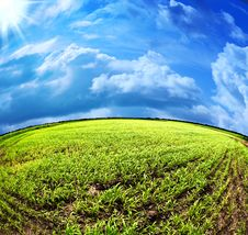 Free Abstract Summer Landscape Royalty Free Stock Photos - 24835978