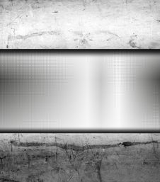 Brushed Metal Banner Royalty Free Stock Photography