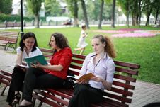 Free Learning In The Park Stock Photography - 24836672