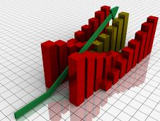 Free Increasing Bar Graph Royalty Free Stock Image - 24836726