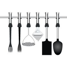 Kitchen Items Related To Cooking Royalty Free Stock Photo