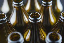 Glass Bottles Close Up Stock Image