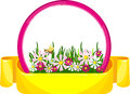 Free Banner Flowers Stock Photography - 24842382