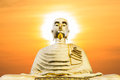 Free Buddha Statue With Sunset Royalty Free Stock Photography - 24844067