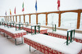 Free Closed Cafe In The Snowfall Stock Photo - 24846260
