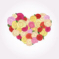 Free Heart Of Roses Stock Photography - 24847252