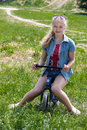Free Girl With Bicycle Stock Photos - 24848703
