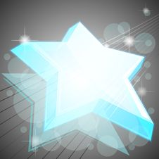 Free Blue Icy Star Royalty Free Stock Photography - 24844017