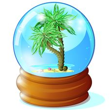 Free Palms In Glass Ball Royalty Free Stock Image - 24844026