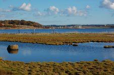 Free Blue Waters Of Kaløvig Royalty Free Stock Photo - 24845985
