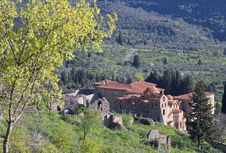 Mystras Medieval Village In Greece Stock Photo