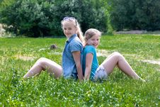 Free Laughting Sisters Stock Photos - 24848673