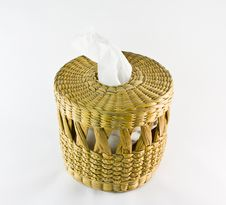 Free Empty Wooden Basket Royalty Free Stock Photos - 24850138