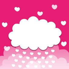 Free Pink Cloudy Background Stock Image - 24850571
