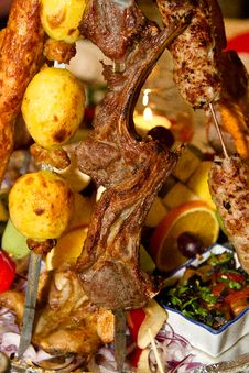 Free Lamb Pieces Stock Image - 24851311