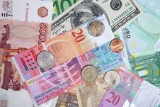 Free Banknotes And Coins Royalty Free Stock Photo - 24851615