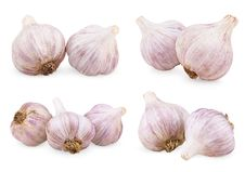 Free Set Of Purple Garlics Royalty Free Stock Photo - 24852185