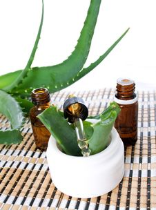Free Aloe Vera Essential Oil Royalty Free Stock Image - 24852316