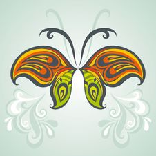 Free Abstract Floral Butterfly Royalty Free Stock Photo - 24853265