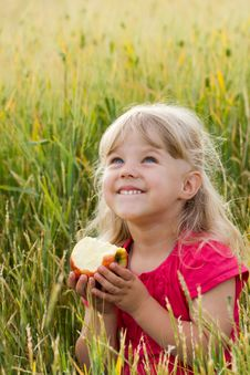 Free Girl With Apple Royalty Free Stock Images - 24853839