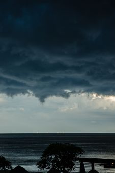 Before The Storm At The Beach Royalty Free Stock Images