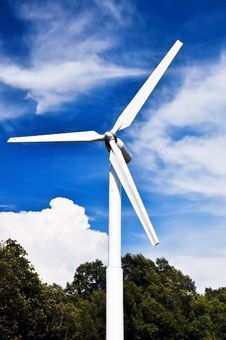 Free A Wind Turbine  With Blue Sky. Stock Photography - 24856432