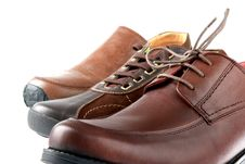 Free Man S Shoe. Royalty Free Stock Photo - 24857015