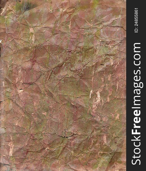 Grungy Distressed Brown Paper Background