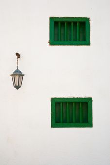 Free Two Green Windows Royalty Free Stock Photo - 24864605