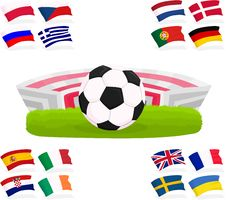 Free Football Set 02 Stock Photos - 24864893