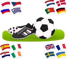 Free Football Set 03 Stock Image - 24864911