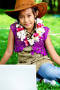 Free Cute Little Girl In The School Holidays Royalty Free Stock Images - 24876129