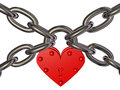 Free Heart - Lock And Chain Stock Images - 24876954
