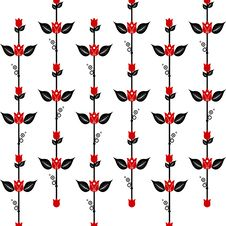Free Seamless Floral Pattern Stock Photography - 24872442