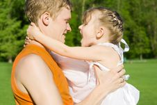 Free The Father Holds The Daughter On Hands Stock Photos - 24872643