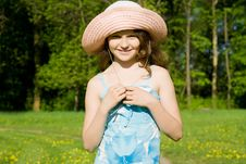 Free Beautiful Girl On The Nature Royalty Free Stock Photography - 24872867