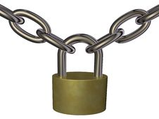 Free Lock And Chain Royalty Free Stock Image - 24877026