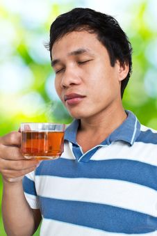 Tea In The Morning Royalty Free Stock Images