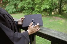 Free Graduation Contemplation Royalty Free Stock Image - 24877936