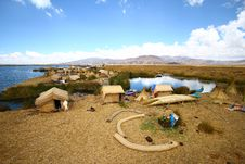Free Floating Uros Island On Titicaca Lake, Peru Royalty Free Stock Image - 24879776