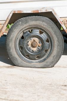 Free Flat Tyre Royalty Free Stock Photos - 24880668