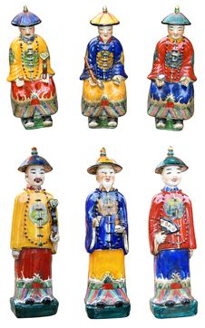 Free Chinese Ceramic Figurines Stock Image - 24884211